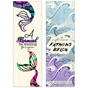 Double Sided Mermaid Aspen Wood Bookmark Double Sided Printed Aspen Wood Bookmark - Dio Candle Company