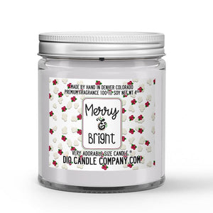 Merry and Bright Candle - Kettle Popcorn - Dried Cranberry - 4oz Very Adorable Size Candle® - Dio Candle Company