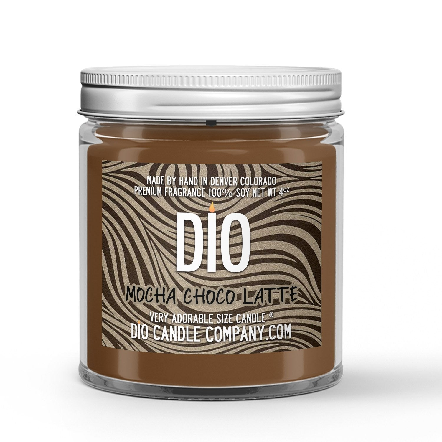 Mocha Choco Latte Mother's Day Candle - Chocolate - Coffee - 4oz Very Adorable Size Candle® - Dio Candle Company