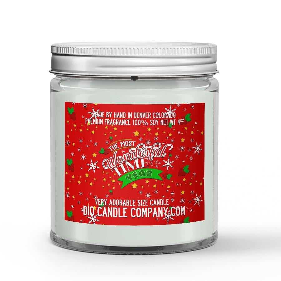 Wonderful Time of The Year Candle Dry Roasted Pine Cones Scented - Dio Candle Company