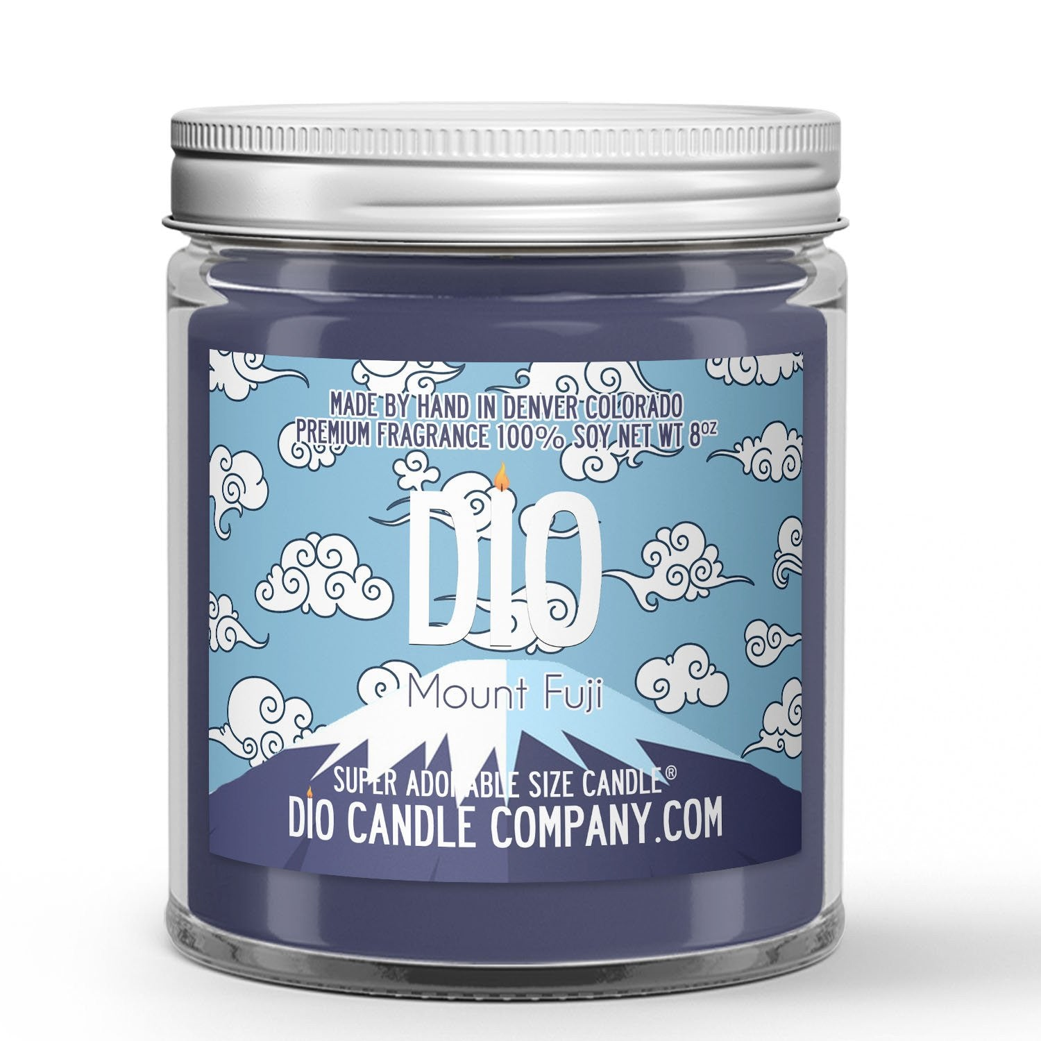 Mount Fuji Candle - Cypress - Snow - 8oz Super Adorable Size Candle® - Dio Candle Company