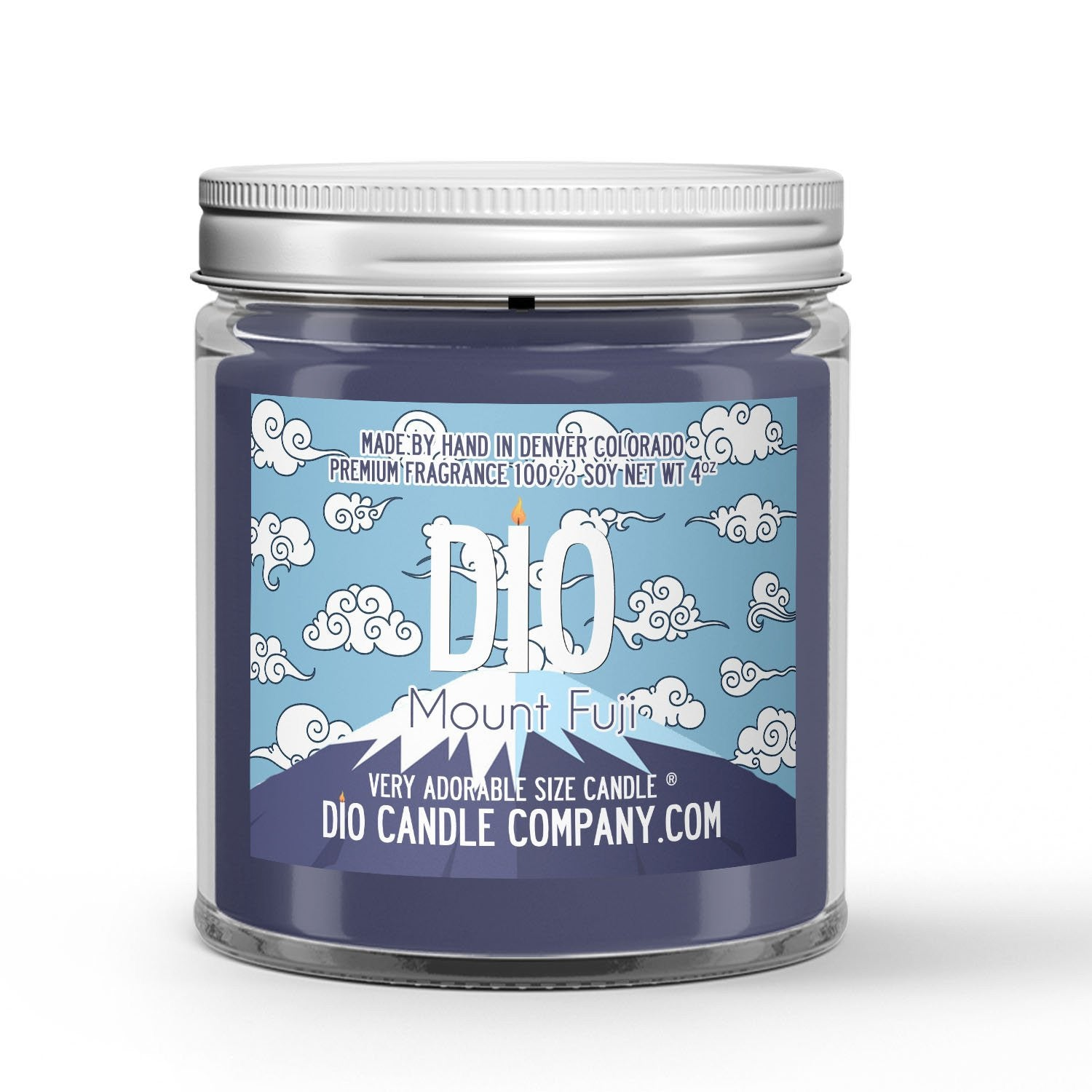 Mount Fuji Candle - Cypress - Snow - 4oz Very Adorable Size Candle® - Dio Candle Company