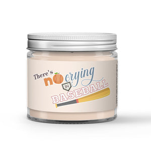 There's No Crying in Baseball Candle Peaches - Dirt Scented - Dio Candle Company