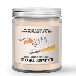Crying in Baseball Candle - Peaches - Dirt -8oz Super Adorable Size Candle®
