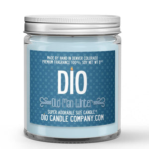 Old Man Winter Candle - Woods - Ice - Patchouli - 8oz Super Adorable Size Candle® - Dio Candle Company