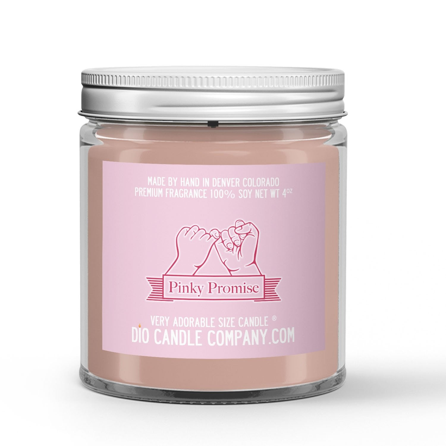 Pinkie Promise Candle - Raspberry Jam - 4oz Very Adorable Size Candle® - Dio Candle Company