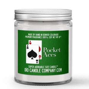 Cigar Smoke - Vanilla Scented - Pocket Aces Poker Candle - 8 oz - Dio Candle Company