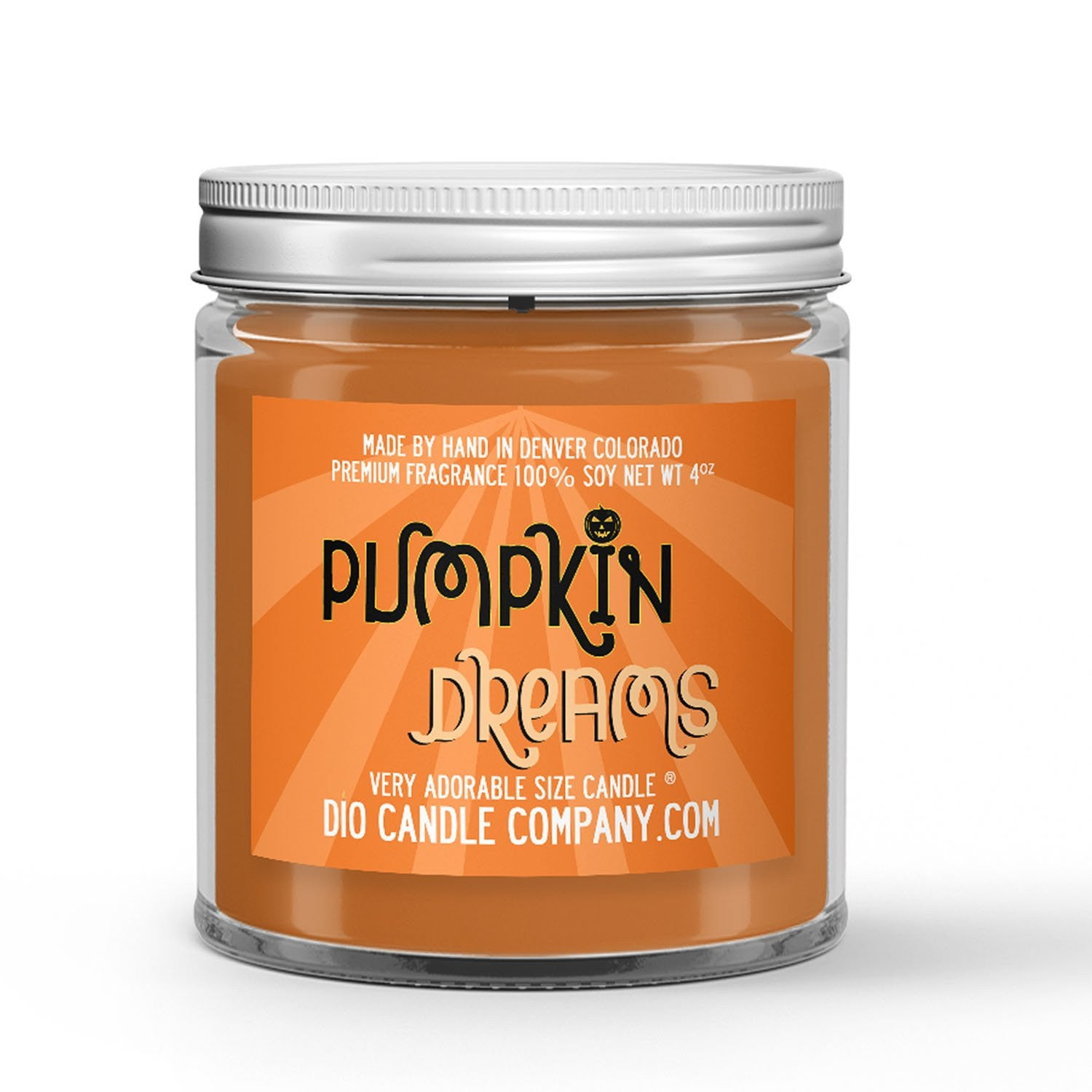 Pumpkin Dreams Candle - Spiced Pumpkin Waffles - Syrup - Pecans - 4oz Very Adorable Size Candle® - Dio Candle Company