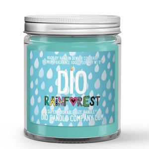 Rain - Dirt - Pineapple Scented - Rainforest Candle - 8 oz - Dio Candle Company