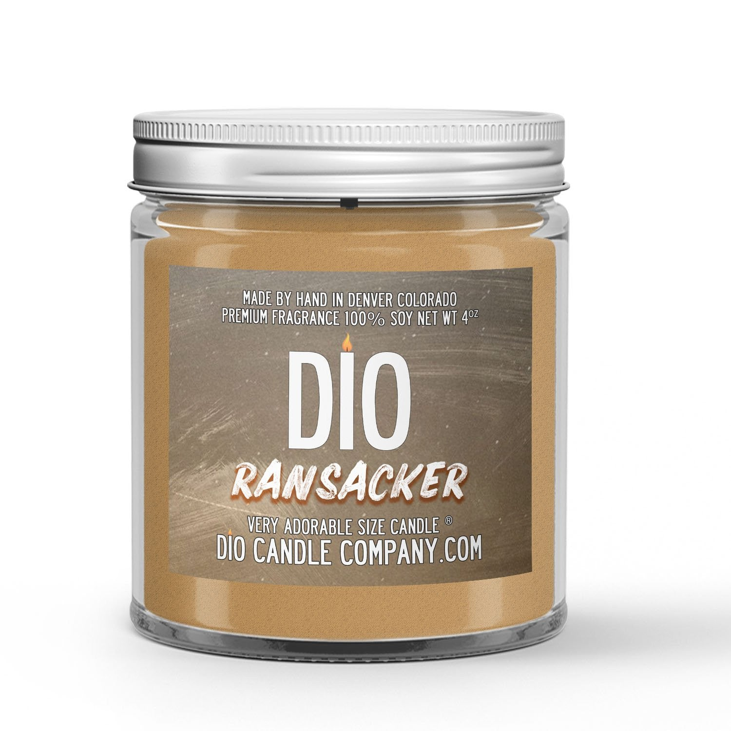 Ransacker Candle - Amber - Wheat - Cinnamon - Clove - 4oz Very Adorable Size Candle® - Dio Candle Company