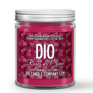 Roses and Creme Candle - Rose - Cream - Lemon - 8oz Super Adorable Size Candle® - Dio Candle Company