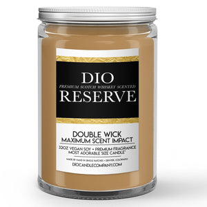 Scotch Whiskey Candle Scotch Whiskey – Oak - Vanilla Scented - Dio Candle Company