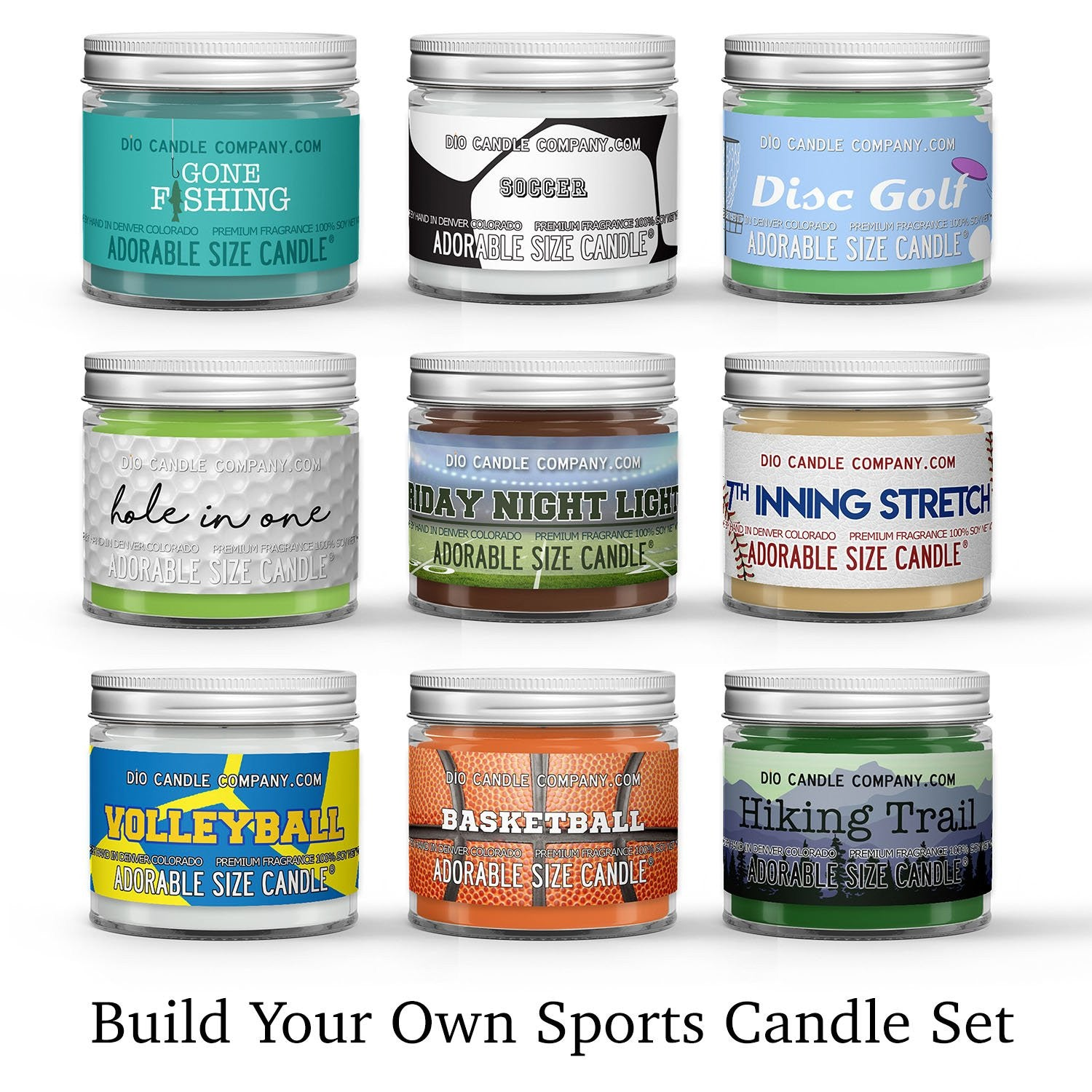 Sports Candle Gift Set Gift Box Set Scented - Dio Candle Company