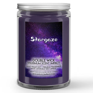 Stargaze Candle Lily - Mint - Rose - Patchouli Scented - Dio Candle Company
