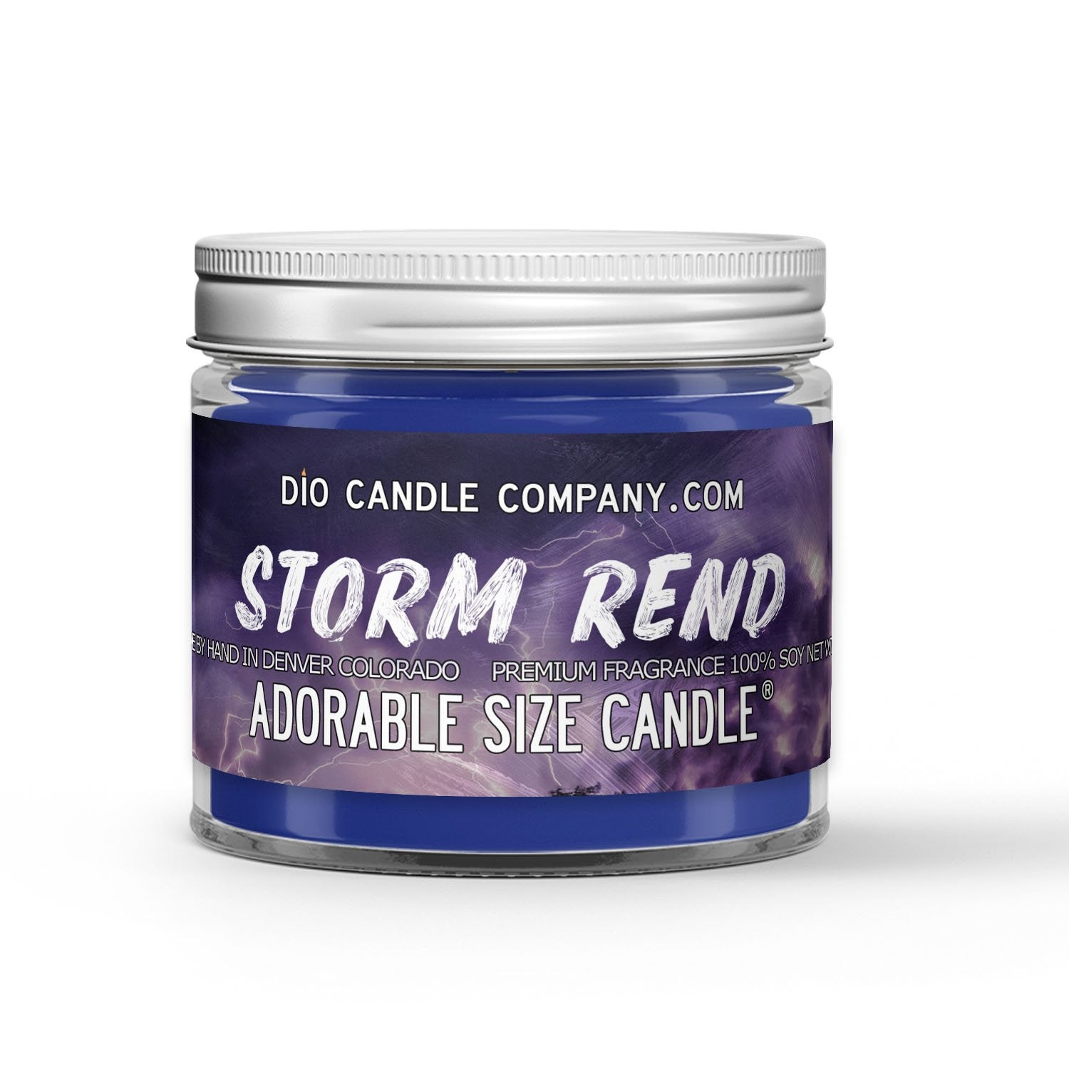 Storm Rend Candle - Storm - Mahogany - Sea Salt - 1oz Adorable Size Candle® - Dio Candle Company