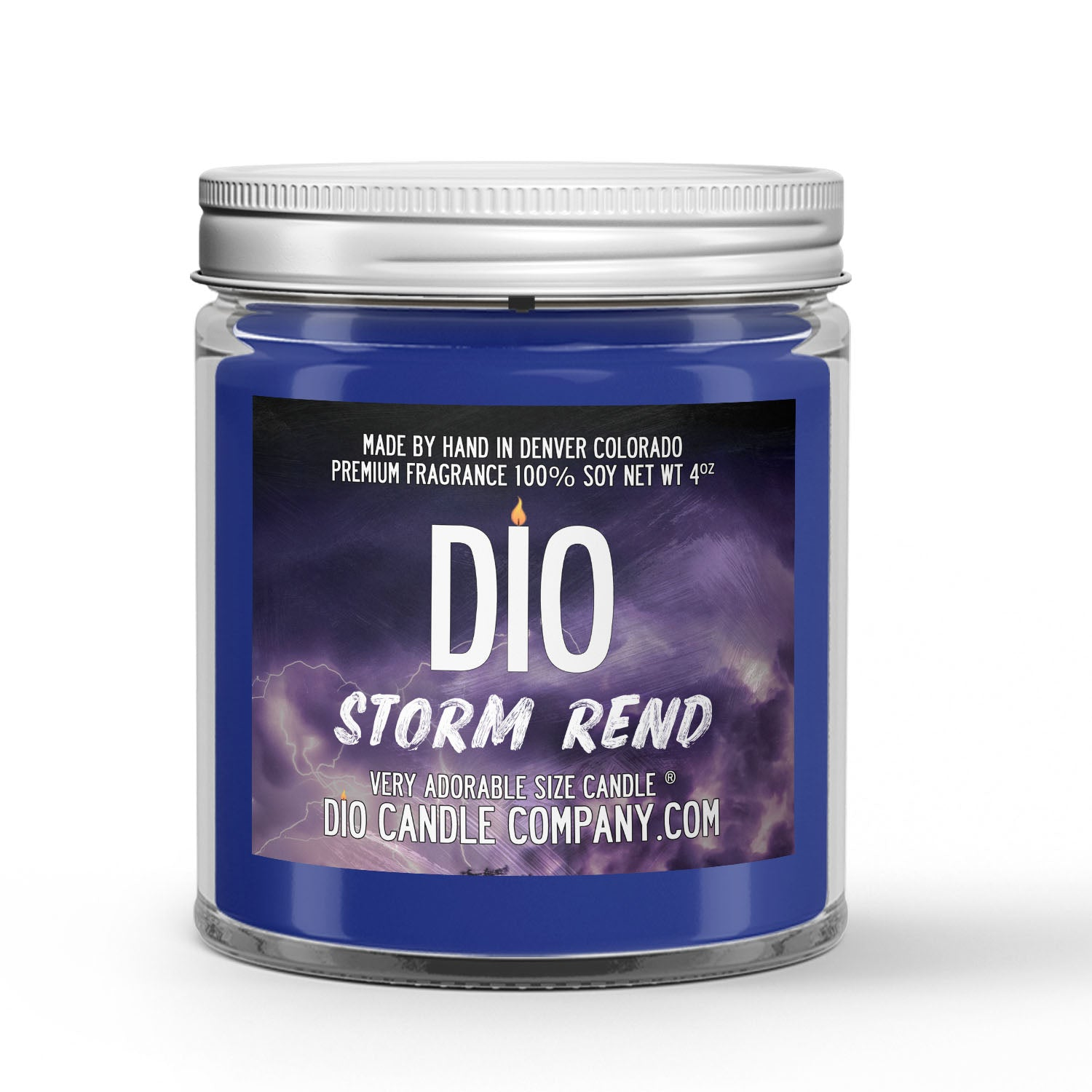 Storm Rend Candle - Storm - Mahogany - Sea Salt - 4oz Very Adorable Size Candle® - Dio Candle Company
