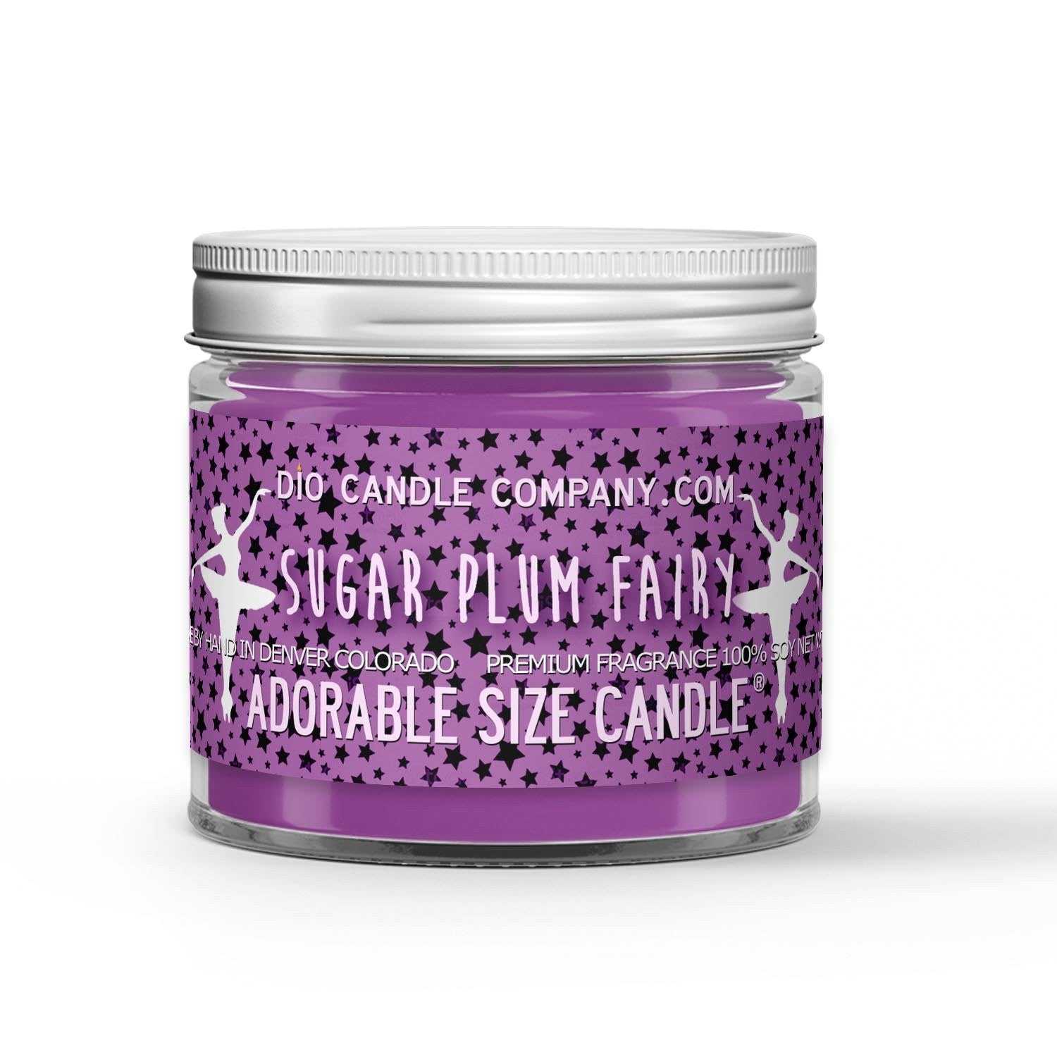 Sugar Plum Fairy Candle - Candied Sugar Plums - 1oz Adorable Size Candle® - Dio Candle Company