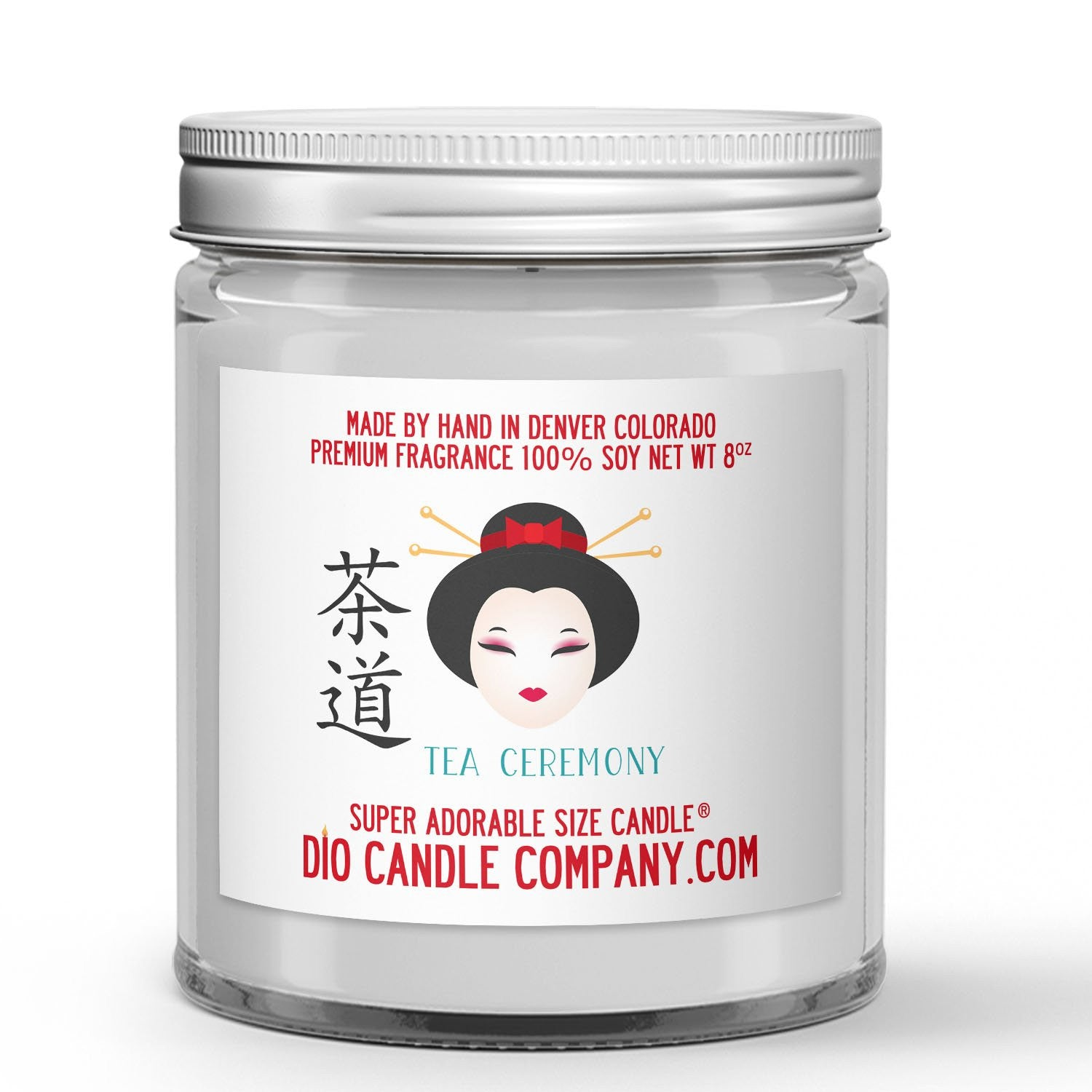 Tea Ceremony Candle - Matcha Green Tea - White Musk - 8oz Super Adorable Size Candle® - Dio Candle Company