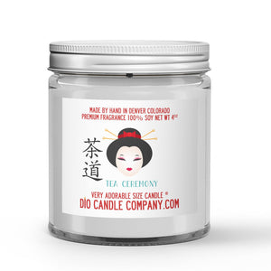 Tea Ceremony Candle - Matcha Green Tea - White Musk - 4oz Very Adorable Size Candle® - Dio Candle Company