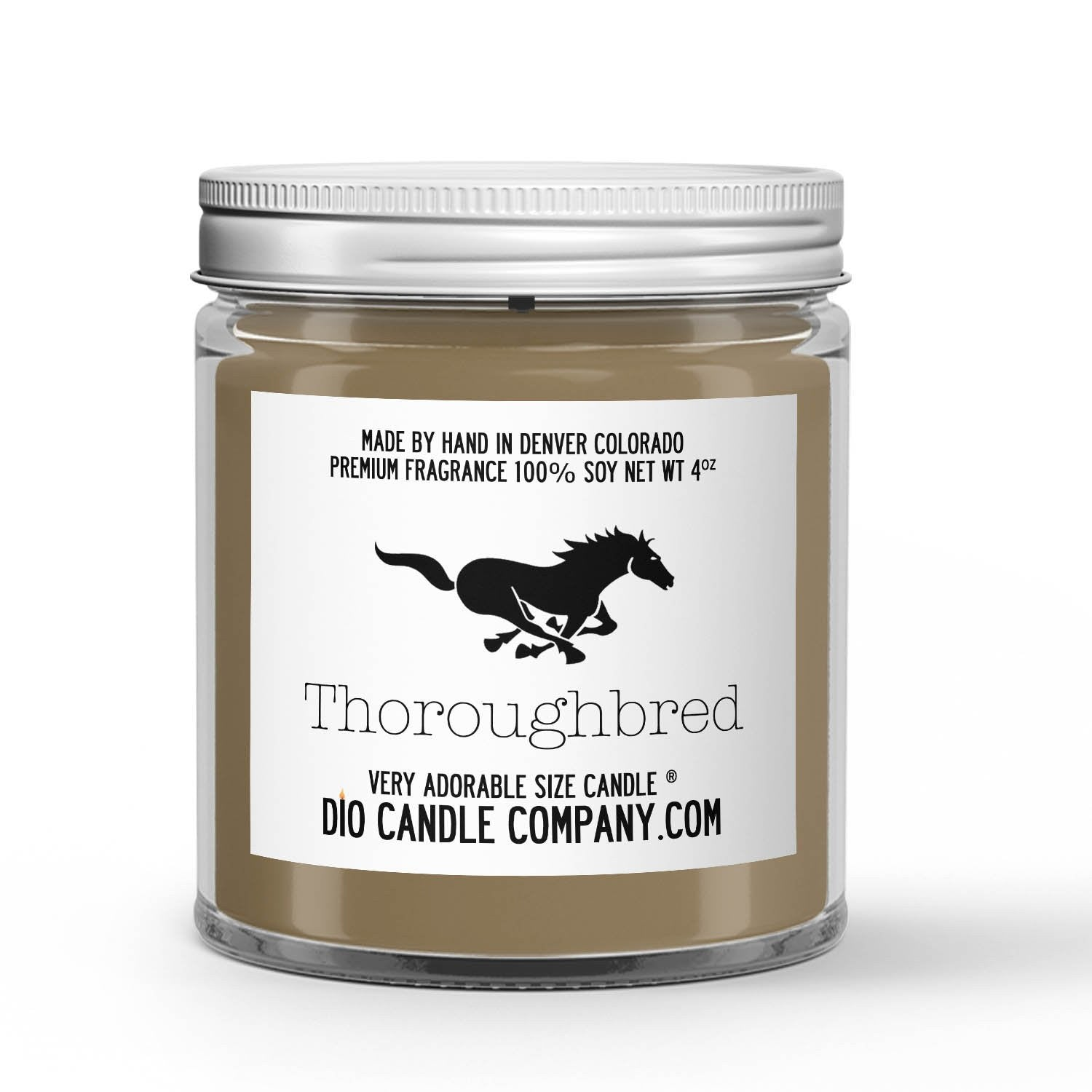 Thoroughbred Candle Saddle - Dirt - Hay - Carrots Scented - Dio Candle Company