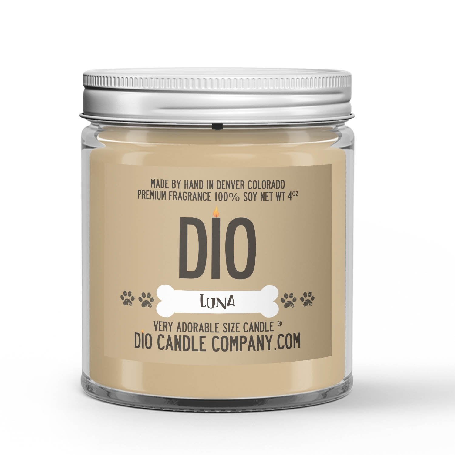 Pet Odor Eliminate Candle Lemon Scented - Dio Candle Company