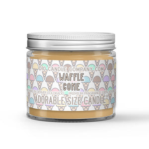 Waffle Cone Candle Vanilla Waffle - Ice Cream Scented - Dio Candle Company
