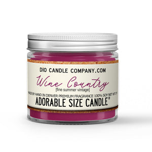 Wine Country Candle - Red Summer Wine - Blackberries - Plums - Pears - 1oz Adorable Size Candle® - Dio Candle Company