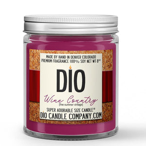 Wine Country Candle - Red Summer Wine - Blackberries - Plums - Pears - 8oz Super Adorable Size Candle® - Dio Candle Company