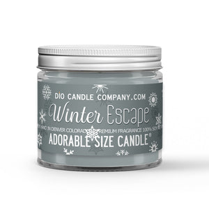 Winter Escape Candle Frosted Mint - Snow - Woods Scented - Dio Candle Company