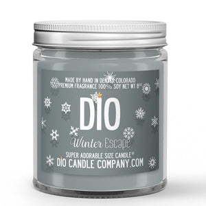 Winter Escape Candle - Frosted Mint - Snow - Woods - 8oz Super Adorable Size Candle® - Dio Candle Company