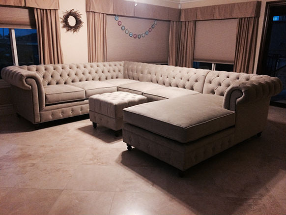 Kenzie L shaped sectional with chaise.