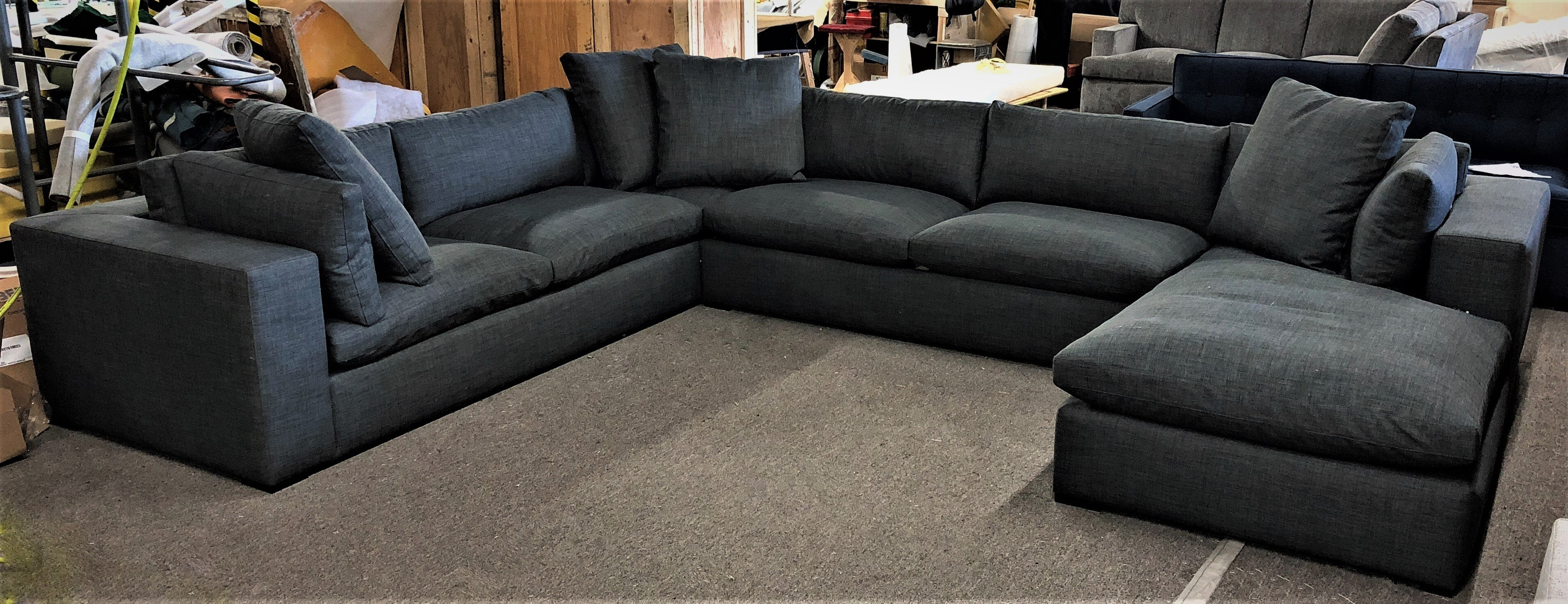 Claudia L shaped sectional with chaise.