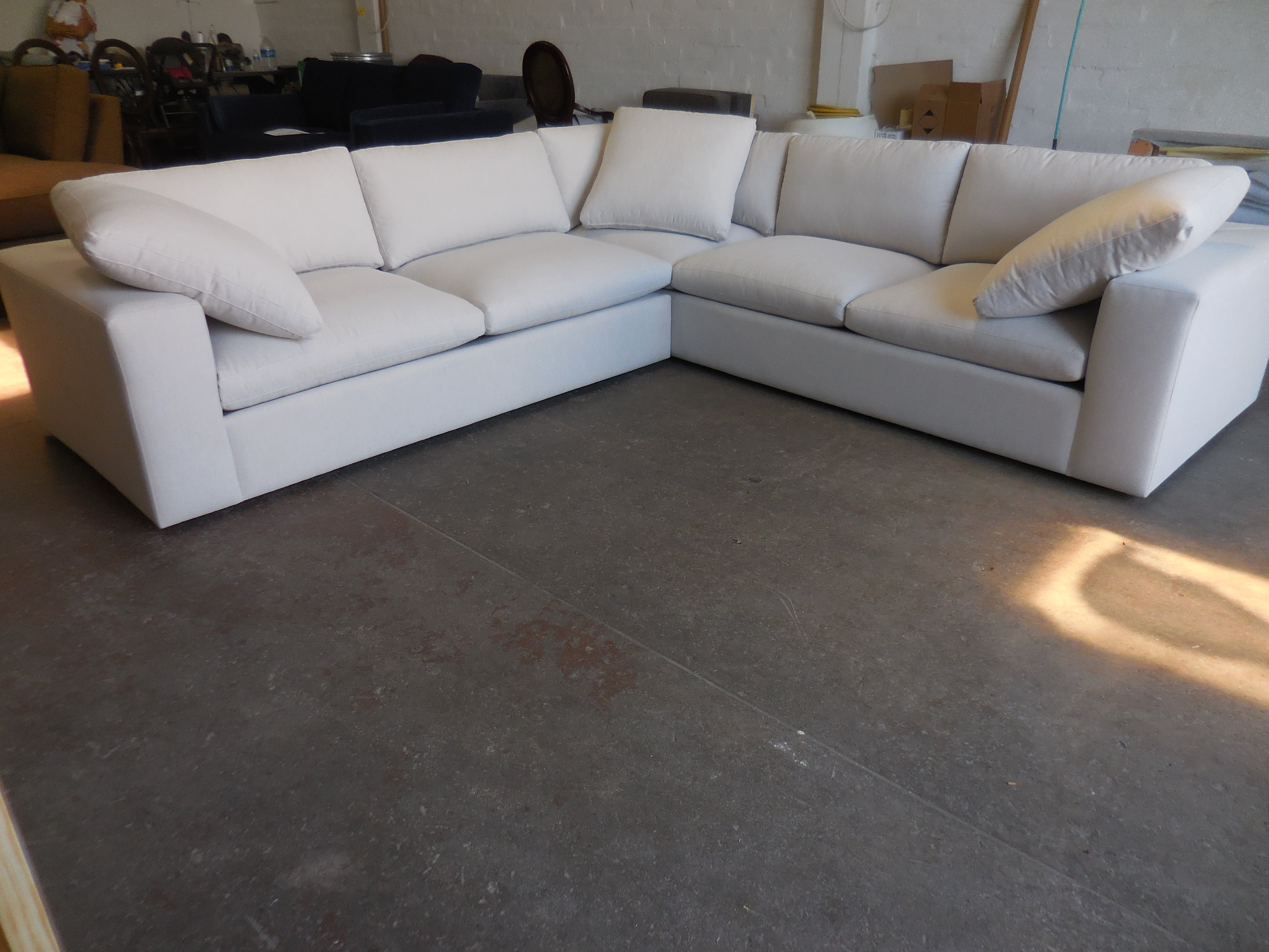 Claudia L shaped sectional.