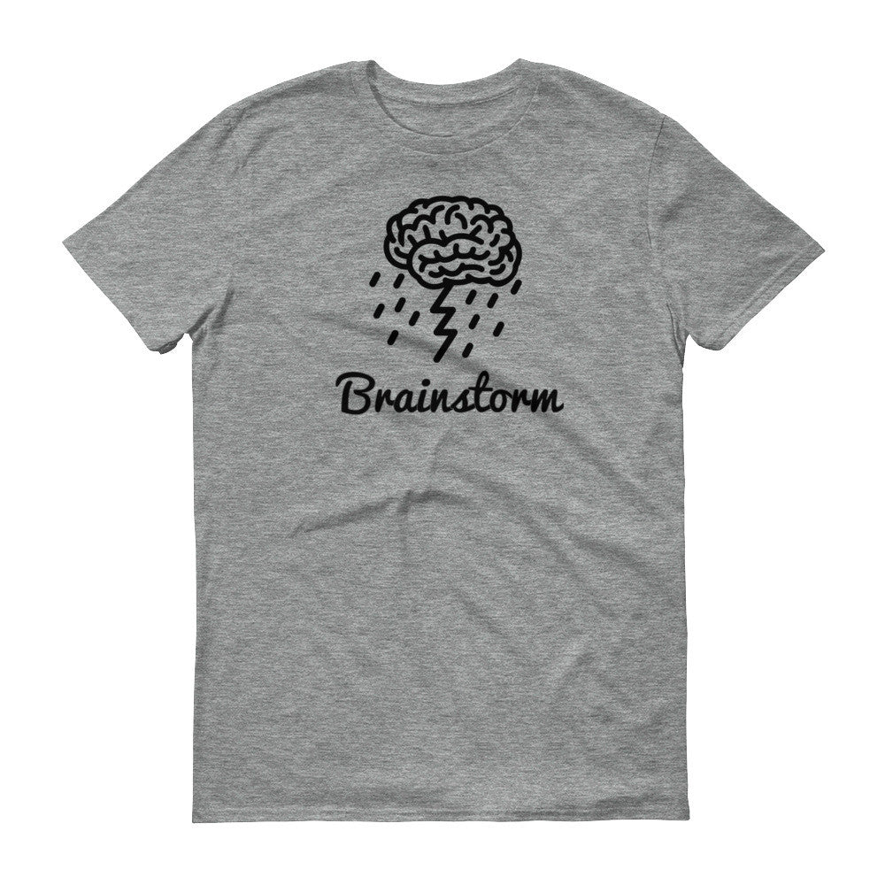 """Brainstorm"" Gray short-sleeve t-shirt"