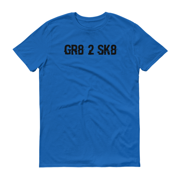 """GR8 2 SK8"" Blue short-sleeve t-shirt"