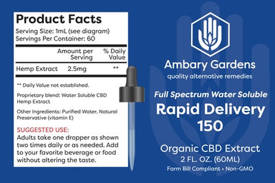 Ambary Gardens Full Spectrum Water Soluble CBD Tincture - 150mg