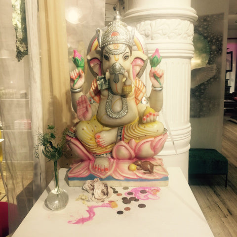 pink ganesha shrine ganesh altar create sacred space abc home