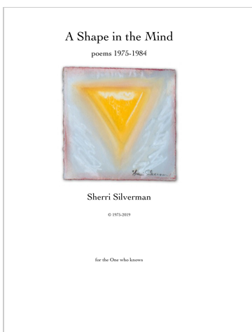 A Shape in the Mind: Poetry Book