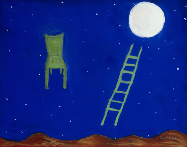 ladder moon chair southwest landscape mystical santa fe sky sherri silverman