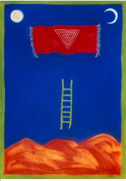 kali yantra laddders of light southwest mystical spiritual art ladder mountains sun crescent moon sherri silverman