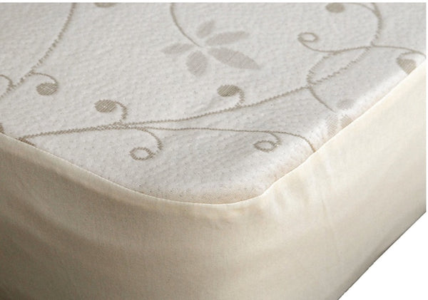 organic cotton mattress protector doubleknit
