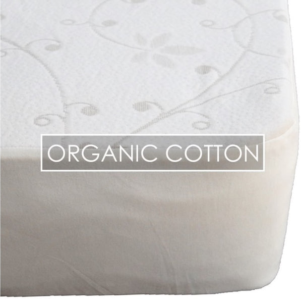 organic cotton mattress protector doubleknit vastu bedroom bed