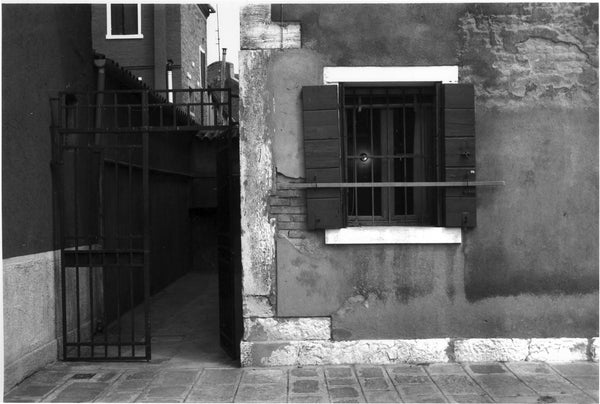 murano window gelatin silver print italy architecture black white photography