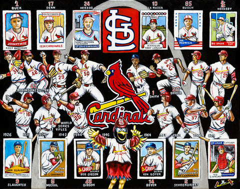 Completed Painting Announcement -- St. Louis Cardinals Tribute by Thomas Jordan
