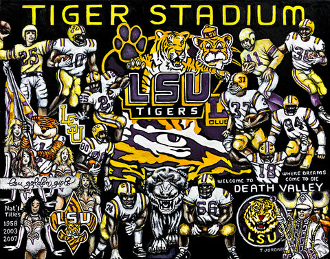 Completed Painting Announcement -- LSU Tigers Tribute by Thomas Jordan