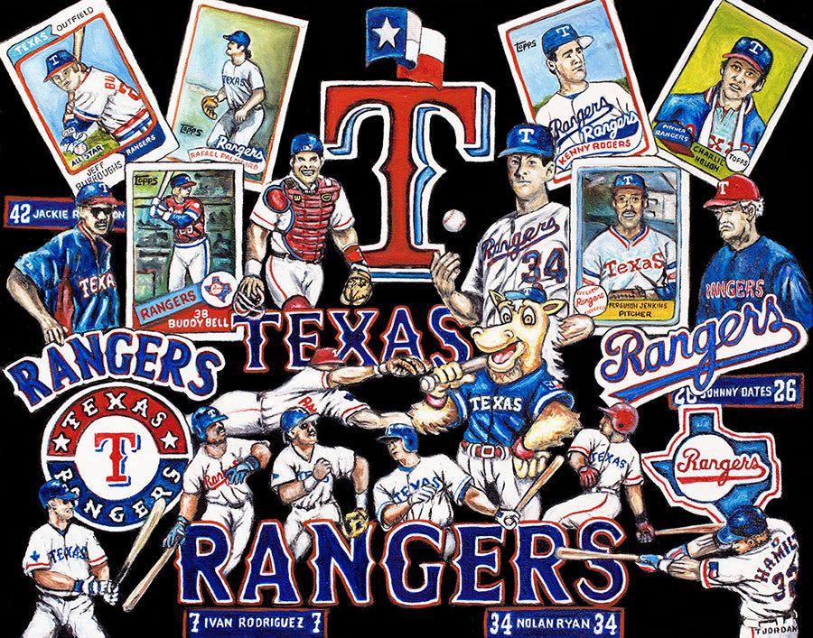 Completed Painting Announcement -- Texas Rangers Tribute by Thomas Jordan