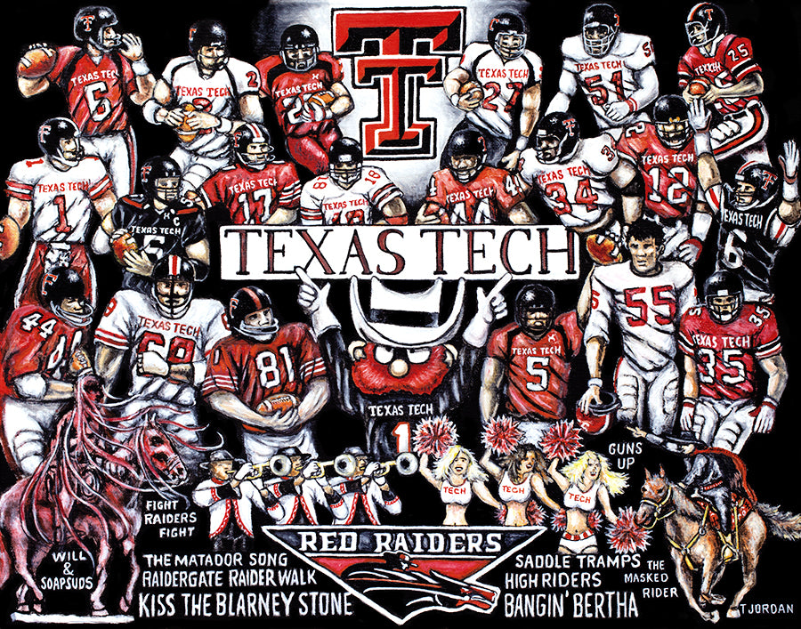 Completed Painting Announcement -- Texas Tech Red Raiders Tribute by Thomas Jordan