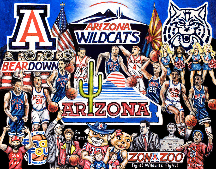 Completed Painting Announcement -- Arizona Wildcats Tribute by Thomas Jordan