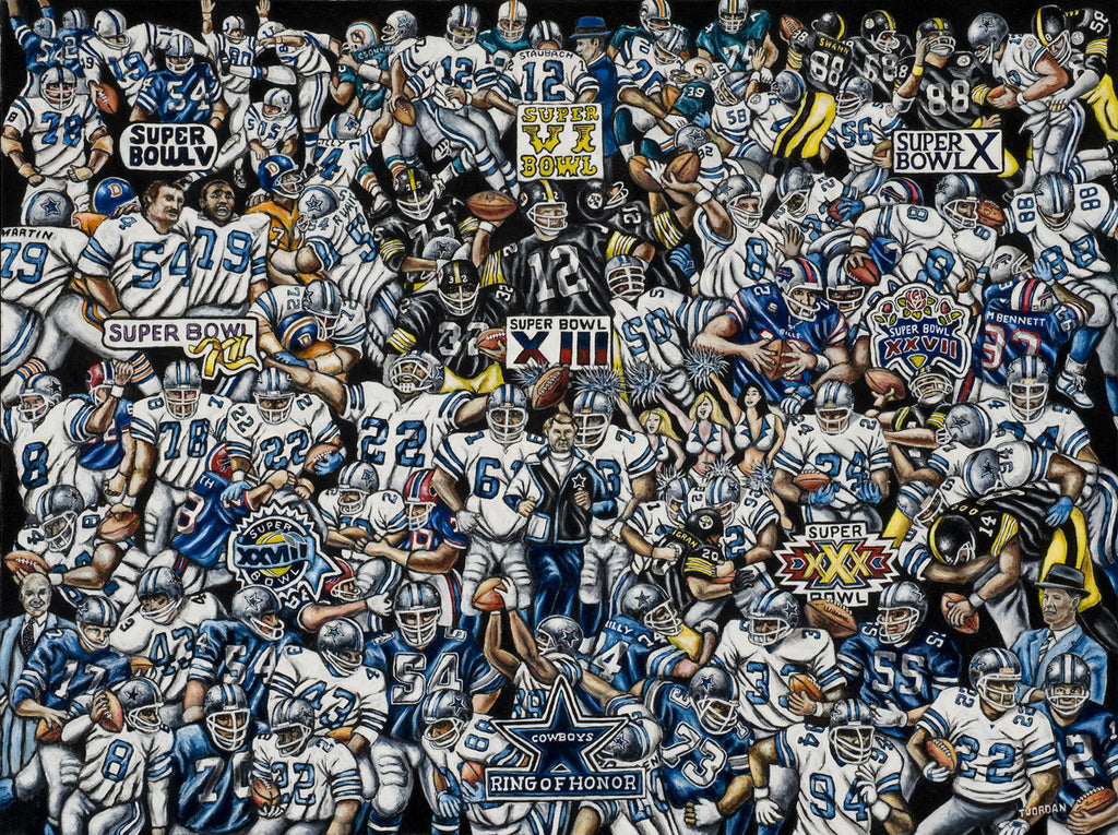 Dallas Cowboys Tribute -- by Thomas Jordan Gallery