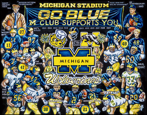 Michigan Wolverines Tribute -- by Thomas Jordan Gallery